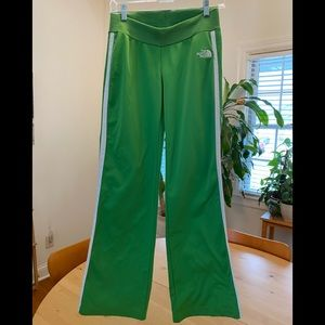 North face Kelly green track pant